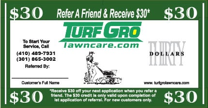 Lawn Care Services Coupon for Fertilizing and Weed Control in Howard County MD